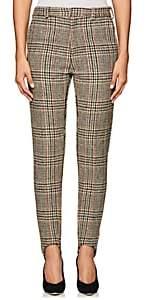 Y/Project Women's Plaid Wool Skinny Trousers - Beige