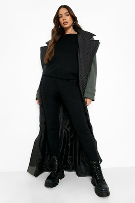 boohoo Boutique Heavy Knitted Loungewear Set