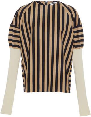 Jil Sander Stripe Cotton Long Sleeve T-Shirt