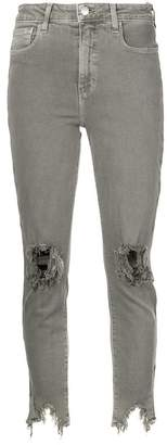 L'Agence distressed effect jeans