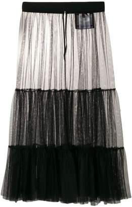 Moncler over-the-knee mesh skirt