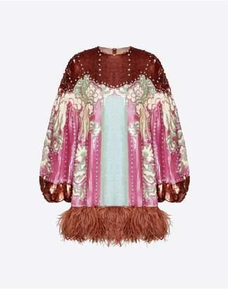 Valentino Embellished Organza Dress