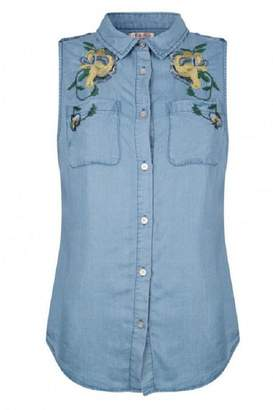 Esqualo Floral Tencel Shirt
