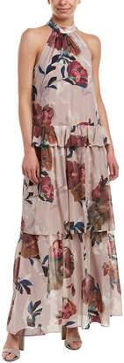 Trina Turk Kahlo Silk-Blend Maxi Dress