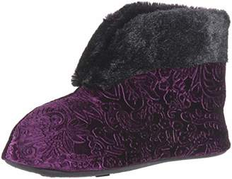 Dearfoams Women's Embossed Velour Bootie Slipper