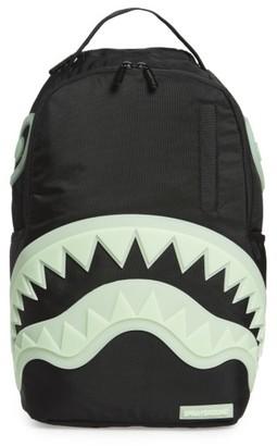 Boy's Sprayground Glow In The Dark Shark Backpack - Black