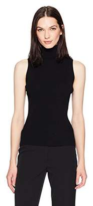 Anne Klein Women's Sleeveless Turtleneck Sweater