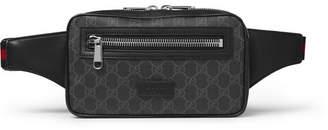 Gucci Leather-Trimmed Coated-Canvas Belt Bag