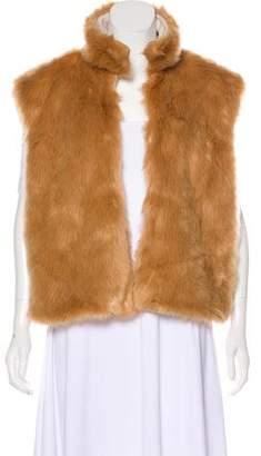 Mother Faux Fur Sleeveless Vest