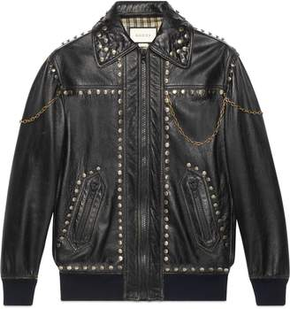Gucci Studded leather jacket