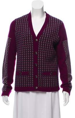 Chanel Patterned Cashmere Cardigan
