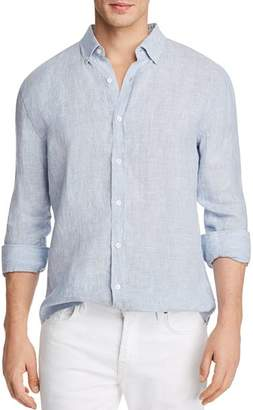 Bloomingdale's The Men's Store at Striped Linen Regular Fit Button-Down Shirt - 100% Exclusive
