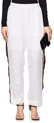 Juan Carlos Obando Women's Striped Washed Satin Track Pants