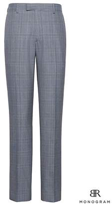 Banana Republic Monogram Slim Plaid Italian Wool Suit Pant