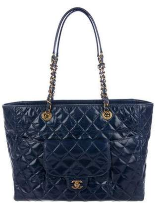 Chanel Quilted Aged Calfskin Flap Tote