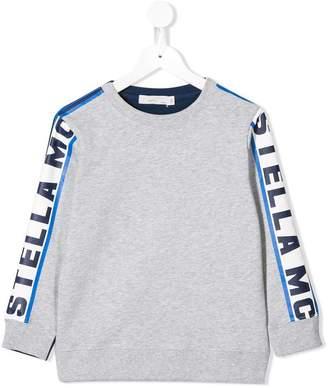 Stella McCartney logo printed sleeve sweatshirt