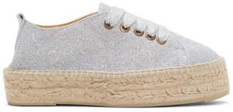 Manebi Silver Lurex Hamptons Sneaker Espadrilles