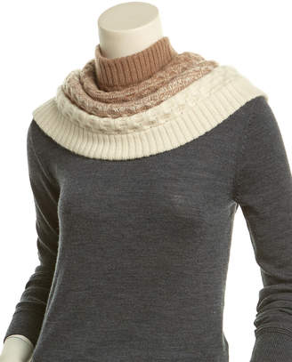 Qi Honeycomb Knit Cashmere Infinity Scarf