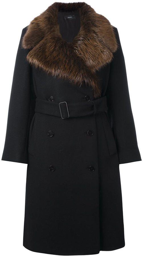 JOSEPHJoseph fur collar coat