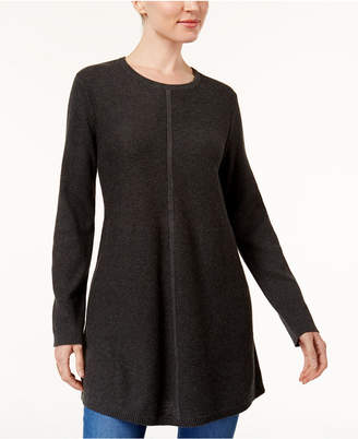 Style&Co. Style & Co Petite Mixed-Stitch Tunic Sweater