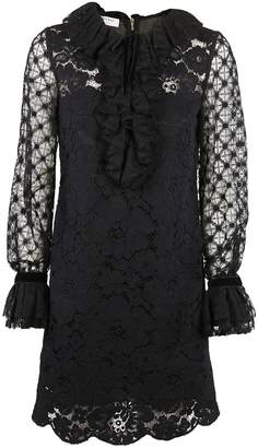 Philosophy di Lorenzo Serafini Ruffled Lace Dress
