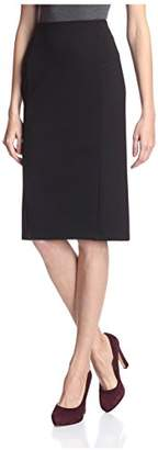 Society New York Women's Mid Calf Pencil Skirt