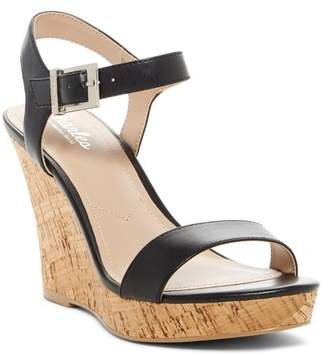 Charles by Charles David Lindy Leather Wedge Sandal