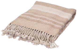 "Jaipur Rugs Inc Jaipur Living Imala Tan/ Cream Stripe Throw 50"" X 60"""