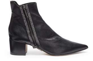 Rodo Strass leather ankle boots
