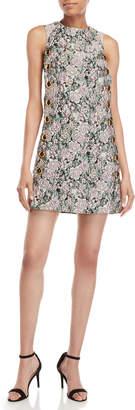 Dolce & Gabbana Floral Brocade Button Shift Dress