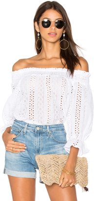 J.O.A. Off Shoulder Eyelet Top $63 thestylecure.com