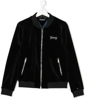 Tommy Hilfiger Junior plush effect bomber jacket