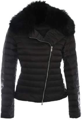 Daniel Black Fur Trim Biker Jacket