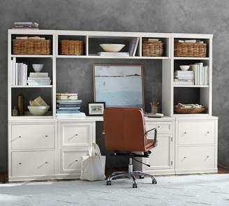 Pottery Barn Logan Medium Office Suite with File Cabinets & Bridge