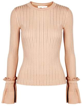 Jonathan Simkhai Blush Ruffled Stretch Jersey Jumper