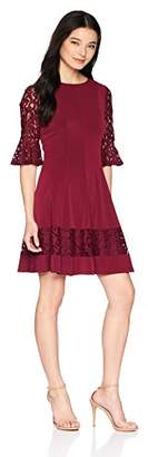 Jessica Howard Women's Petite Bell Sleeve Fit and Flare Dress