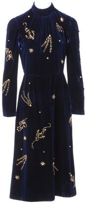 Prada Navy Velvet Dresses