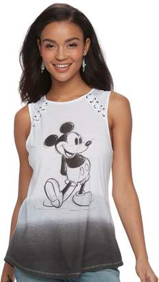 Disney Disney's Mickey Mouse Juniors' Lace-Up Ombre Tank