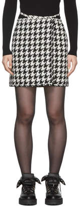 Off-White Off White Black and White Houndstooth Miniskirt