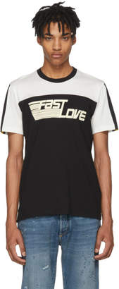 Givenchy Black and White Fast Love Jersey T-Shirt