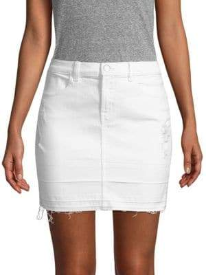 J Brand Distressed Stretch Mini Skirt