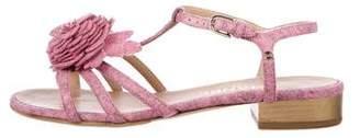 Chanel Camellia Multistrap Sandals