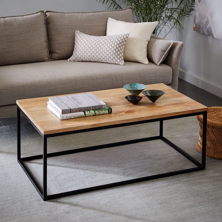 Box Frame Coffee Table - Raw Mango