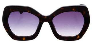 Alice + Olivia Square Gradient Sunglasses