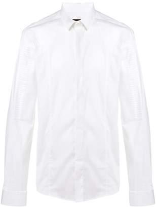 Les Hommes textured patch shirt