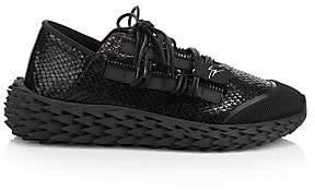 Giuseppe Zanotti Men's Urchin Textured Patent Leather Sneakers