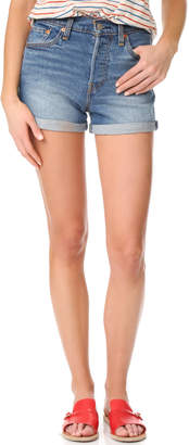 Levi's Wedgie Shorts $70 thestylecure.com