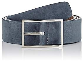 Simonnot Godard Men's Nubuck Belt - Gray, Taupe