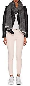 Barneys New York Women's Cashmere-Silk Bouclé Scarf - Black