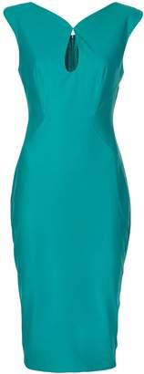 Zac Posen fitted key-hole dress